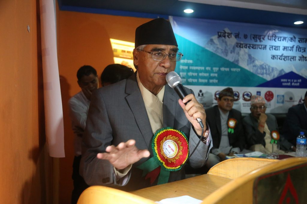 PM Deuba to visit western districts for polls
