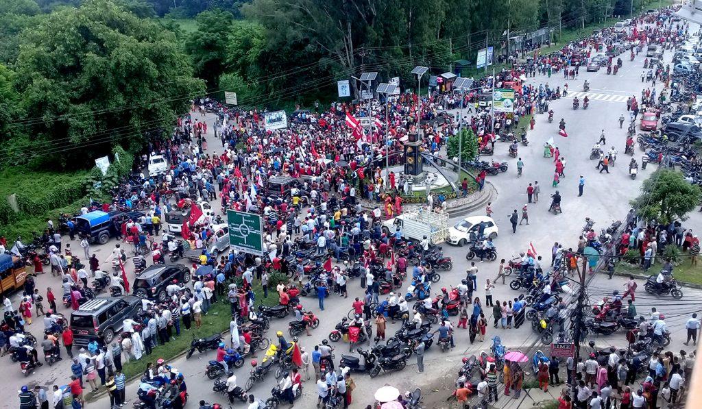 भरतपुरमा माओवादी र कांग्रेसको संयुक्त विजय जुलुश (फोटोफिचर)