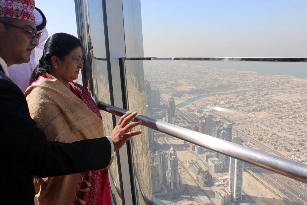 भण्डारीको युएई भ्रमण : समृद्धिको सपना बाँड्नेदेखि बुर्ज खलिफा र नहरको अवलोकनसम्म