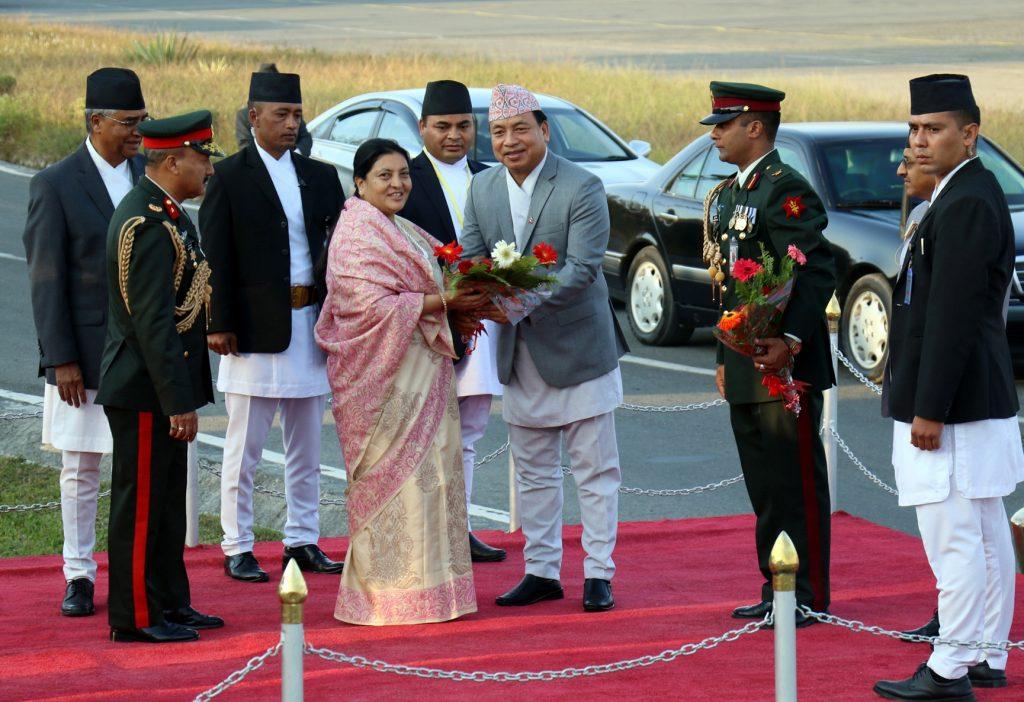 Presiden Bhandari leaves for UAE