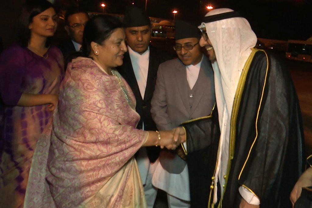 राष्ट्रपति भण्डारीसँग युएईका युवराजले भने- 'नेपाली श्रमिक इमान्दार र कर्तव्यनिष्ट'
