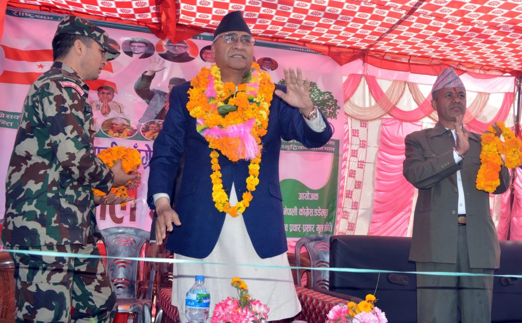 Deuba vows special package for flood-hit in Sunsari