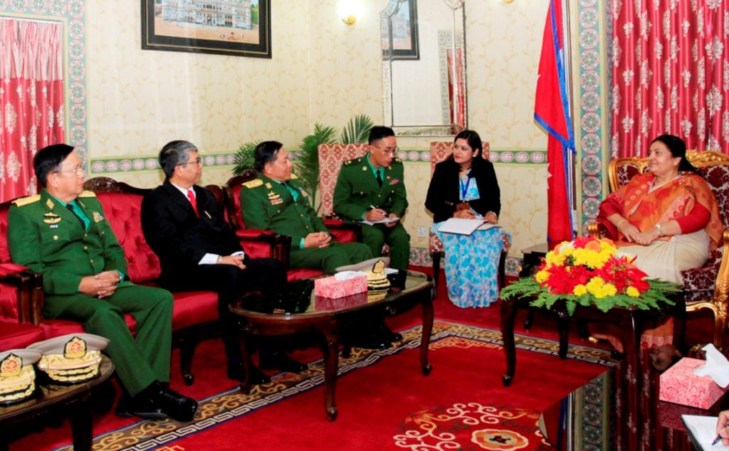 Myanmar's Commander In-Chief calls on President, PM